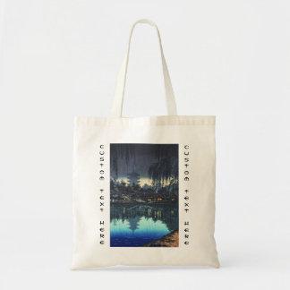 The Pond of Sarusawa Nara on a Rainy Evening Budget Tote Bag