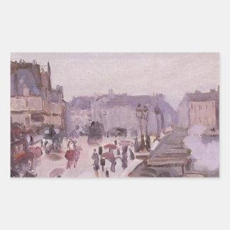 The Pont Neuf by Claude Monet Rectangular Sticker