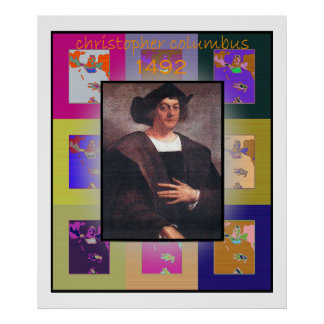 The Pop Art Christopher Columbus Poster