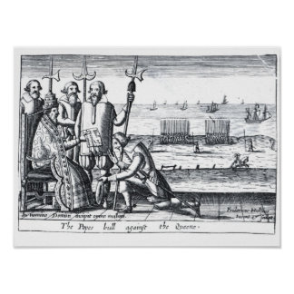 The Pope's Bull against the Queen in 1570 Poster