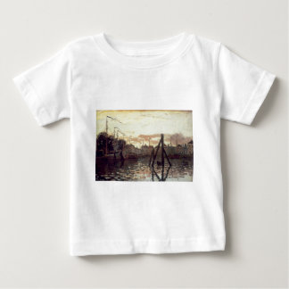 The Port at Zaandam by Claude Monet Baby T-Shirt