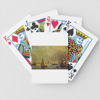 The Port of Camaret by Eugene Boudin Bicycle Playing Cards