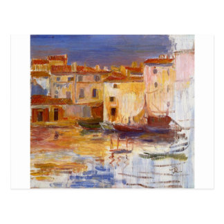 The Port of Martigues by Pierre-Auguste Renoir Postcard