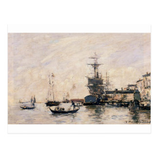 The Port of Trouville by Eugene Boudin Postcard