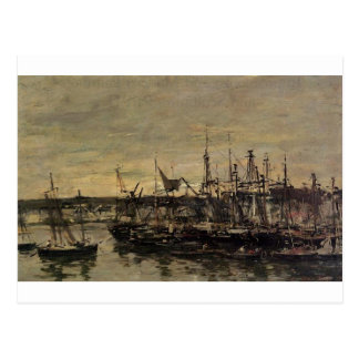 The port Portrieux by Eugene Boudin Postcard