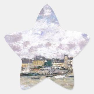 The Port, Trouville by Eugene Boudin Star Sticker