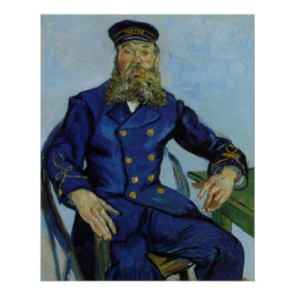 The Postman Joseph Roulin by Vincent van Gogh Poster