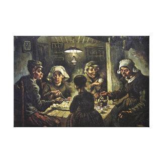 The Potato Eaters, 1885, Van Gogh Canvas Print