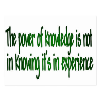 The Power of Knowledge Postcard