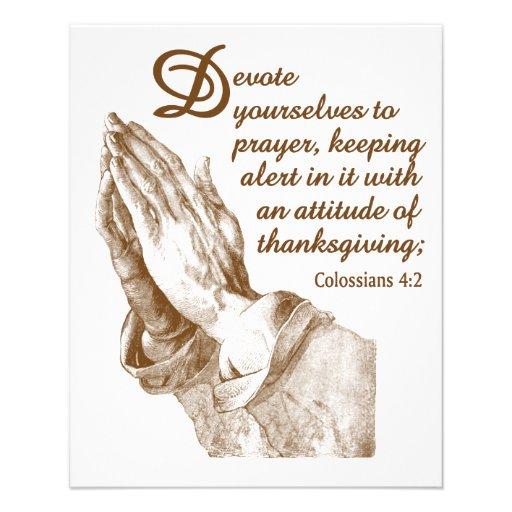 The Praying Hands Custom Flyer