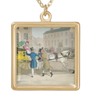 The Pressing Invitation, from 'Fashionable Bores, Gold Plated Necklace
