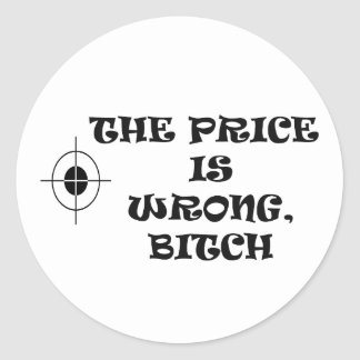 THE PRICE IS WRONG ROUND STICKER