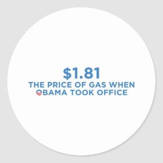 The Price of Gas Classic Round Sticker