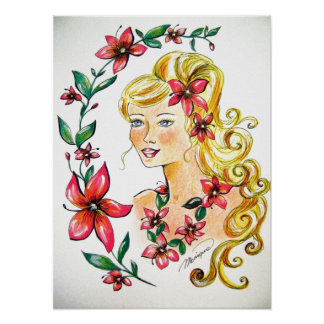 The Princess flowers poster