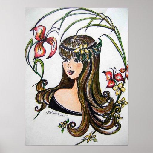 The Princess iris flowers poster