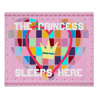 THE PRINCESS SLEEPS HERE ROOM POSTER