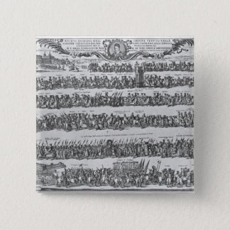 The Procession of Pope Innocent XII 15 Cm Square Badge