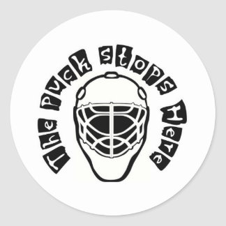 the puck classic round sticker