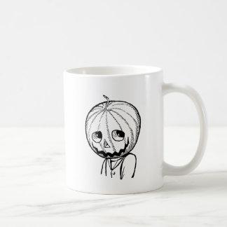 The Pumpkin Head Basic White Mug