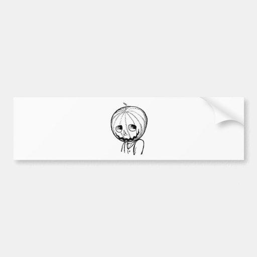 The Pumpkin Head Bumper Stickers
