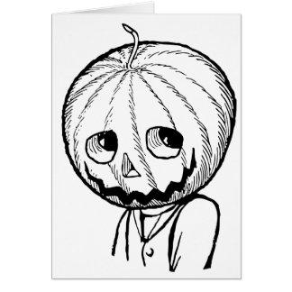 The Pumpkin Head Card