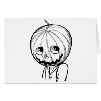 The Pumpkin Head Greeting Card