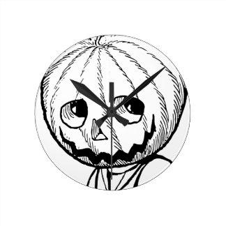 The Pumpkin Head Wallclocks