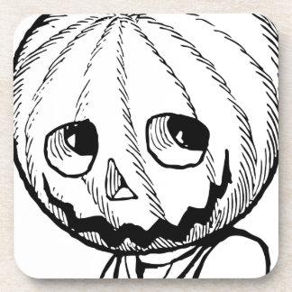 The Pumpkin Head Beverage Coasters