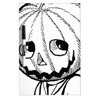 The Pumpkin Head Dry Erase Board