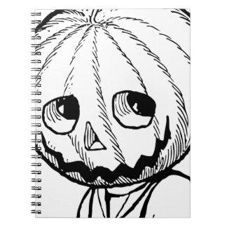 The Pumpkin Head Spiral Notebook