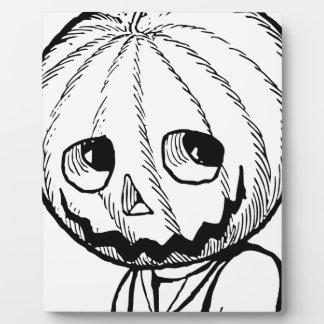 The Pumpkin Head Display Plaque