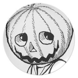 The Pumpkin Head Party Plate
