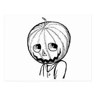 The Pumpkin Head Post Card
