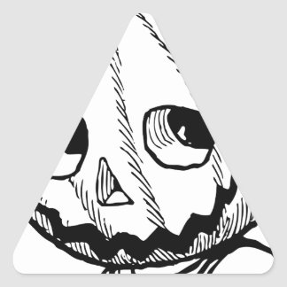 The Pumpkin Head Triangle Sticker