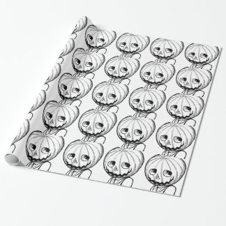 The Pumpkin Head Wrapping Paper