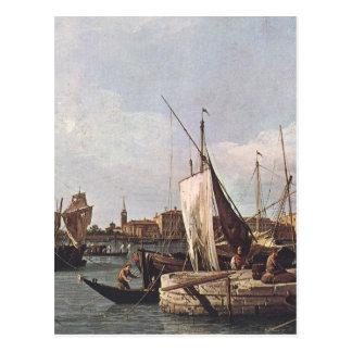 The Punta della Dogana by Canaletto Postcard