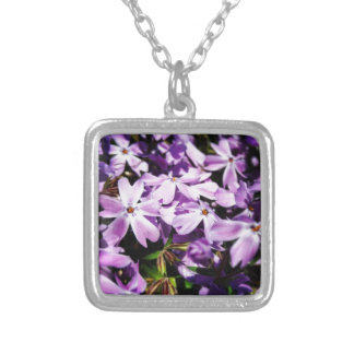 The Purple Flower Patch Silver Plated Necklace
