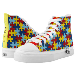 The puzzlers printed shoes