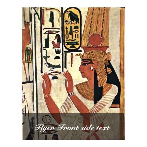The Queen Nefertari In Prayer Stance By Maler Der Personalized Flyer