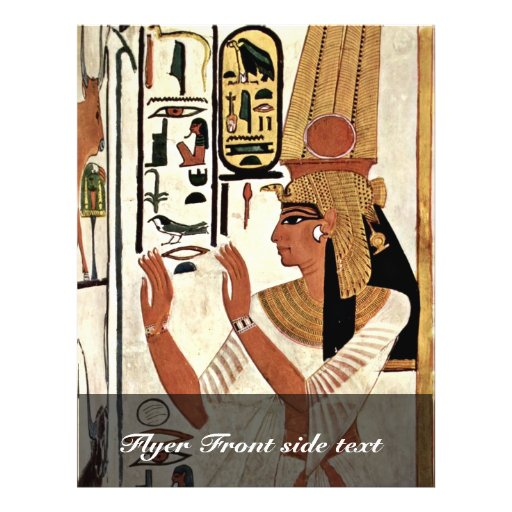 The Queen Nefertari In Prayer Stance By Maler Der Flyers