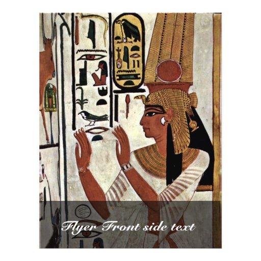 The Queen Nefertari In Prayer Stance By Maler Der Full Color Flyer