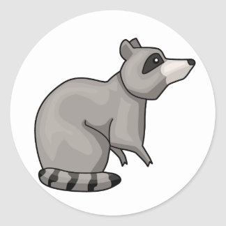 The Racoon Classic Round Sticker