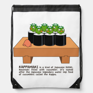< The raincoat it winds (English version) > Drawstring Bag