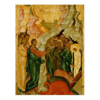 The Raising of Lazarus, Russian icon Postcard