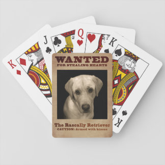 The Rascally Retriever Playing Cards