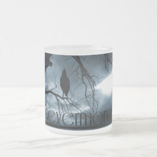 The Raven - Nevermore Sunbeams & Tree Blue Frosted Glass Coffee Mug