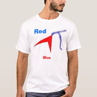 the red and the blue, Red, Blue T-Shirt