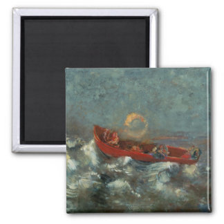 The Red Boat, 1905 Square Magnet