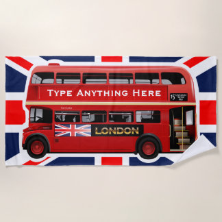 The Red London Bus Beach Towel
