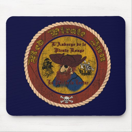 The Red Pirate Inn Mouse Mat